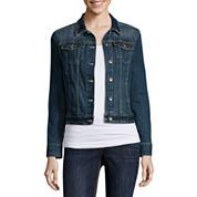 Liz Claiborne® Denim Jacket - Tall