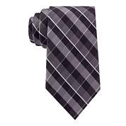 Stafford® Lakefront Mesh Plaid Tie - Extra Long