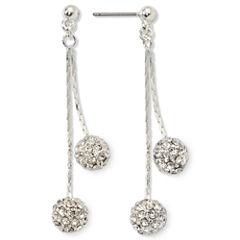 Monet® Crystal Linear Drop Earrings