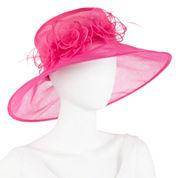 Floral Organza Derby Hat