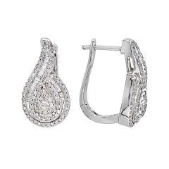 1 CT. T.W. Diamond 10K White Gold Pear-Shaped Earrings