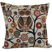 Brentwood Originals Wise Old Owl Jacquard Decorative Pillow
