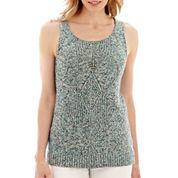 Liz Claiborne® Marled Sweater Tank Top