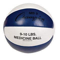 Champion Sports 910lb Leather Medicine Ball