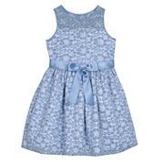 Marmellata Sleeveless Sparkle Lace Princess Dress with Illusion Neck - Girls 7-16
