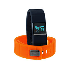 Itouch Ifitness Activity Tracker Black/Navy And Orange Interchangeable Band Unisex Multicolor Strap Watch-Ift5419bk668-661