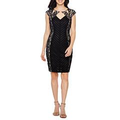 Melrose Short Sleeve Sheath Dress