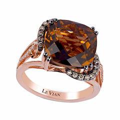 LIMITED QUANTITIES! Levian Corp Le Vian Womens 1/5 CT. T.W. Brown Quartz 14K Gold Cocktail Ring