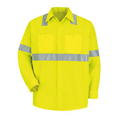 Red Kap® Long-Sleeve High-Visibility Shirt - Big & Tall