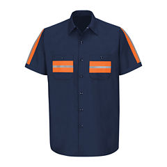 Red Kap® Short-Sleeve Visibility Industrial Work Shirt - Big & Tall