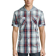 i jeans by Buffalo Maty Short-Sleeve Hooded Woven Shirt