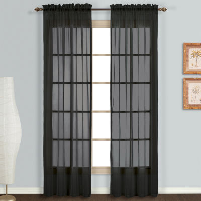 United Curtain Co. Monte Carlo Rod Pocket 2 Pack Curtain Panels