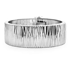 Made In Italy Womens Sterling Silver Wrap Bracelet