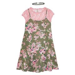 Arizona Floral Slip Dress - Girls' 7-16 & Plus