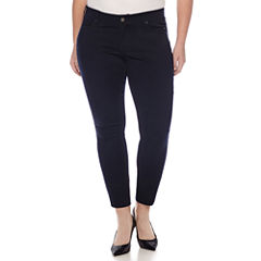 Arizona Skinny Fit Ankle Pants-Juniors Plus