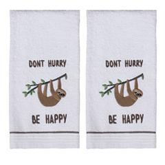 Saturday Knight 2-Pack Sloth Hand Towel Set
