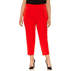 Worthington Zipper Cropped Pants-Plus