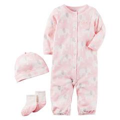 Carter's Little Baby Basics Girl 3-Piece Layette Set