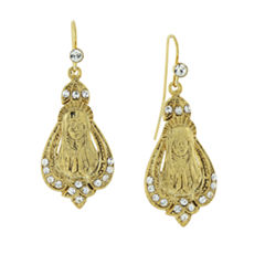 Symbols Of Faith Religious Jewelry Clear Crystal Drop Earrings