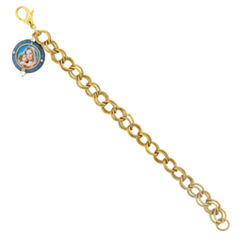 Symbols Of Faith Religious Jewelry Womens 7 1/4 Inch Chain Bracelet