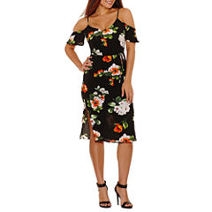 Bisou Bisou Cold Shoulder Shift Dress