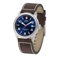 Swiss Military By Charmex Vintage Mens Brown Strap Watch-78335_8_C