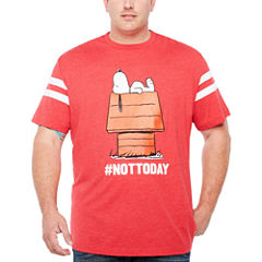Short Sleeve Peanuts Graphic T-Shirt-Big and Tall