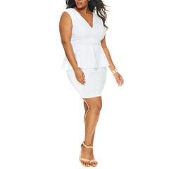 Fashion To Figure Angelica Peplum Bodycon Dress-Plus
