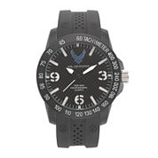 Wrist Armor® US Air Force Mens Rubber Strap Watch