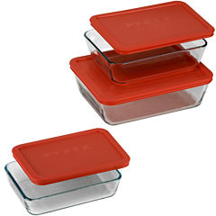 Pyrex® Value Pack 6-pc. Rectangular Food Storage Set