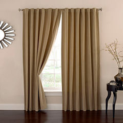 Eclipse Absolute Zero Velvet Rod-Pocket Back-Tab Curtain Panel