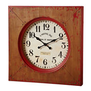 Distressed Red Farmhouse Wall Clock