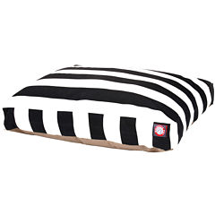 Majestic Pet Vertical Stripe Rectangular Bed