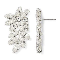 Vieste® Crystal Leafy Branch Cuff Earrings