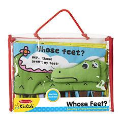 Melissa & Doug® Whose Feet? Soft Activity Book