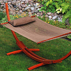 12-Foot Caribbean With Wooden Arc Frame 3-Pc. SetHammock