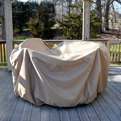 All-Weather Protective Cover for 48-in Round Table& Chairs w/ Umbrella Hole