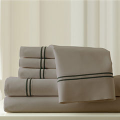 1000 Thread Count Cotton Blend  Double Marrow Hem6pc Sheet Set
