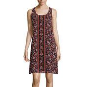 Love Reigns Sleeveless Floral Print A-Line Dress