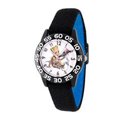 Guardian Of The Galaxy Marvel Boys Black Strap Watch-Wma000124
