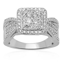 1 CT. T.W. Diamond 10K White Gold Engagement Ring