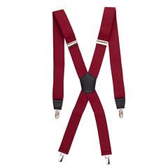 J. Ferrar Burgundy Suspenders