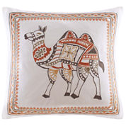 INK+IVY Dustin Square Embroidered Decorative Pillow