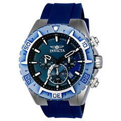 Invicta Aviator Mens Blue Strap Watch-22522