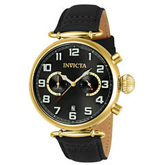 Invicta Aviator Mens Black Strap Watch-22981