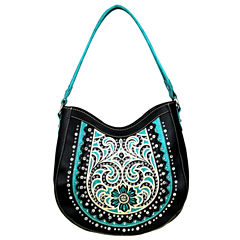 Montana West Lily Embroidery Hobo Bag