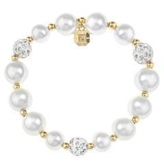 Monet Jewelry Womens White Stretch Bracelet