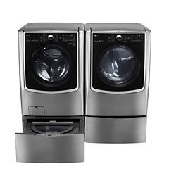 LG ENERGY STAR® 5.2 cu. ft. High-Efficiency Mega Capacity Turbowash Washer With On-Door Control Panel