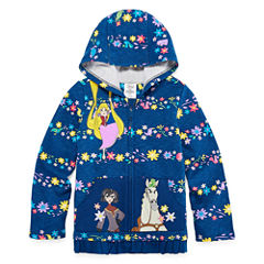 Disney Tangled Fleece Jacket-Big Kid Girls
