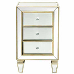 Home Meridian Mirrored Drawer Chest Storage Chest